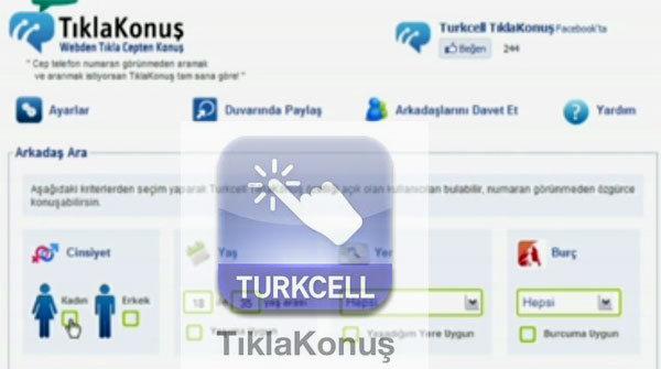 turkcell tıkla konuş
