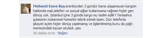 yurtiçi kargo facebook sayfası