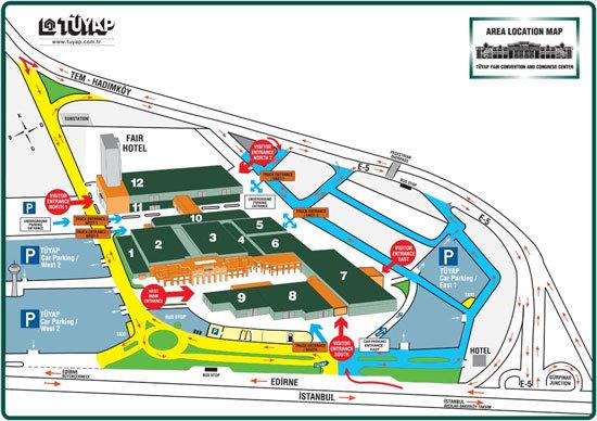istanbul autoshow ulaşım haritası