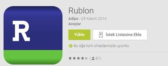Rublon Mobil Uygulaması